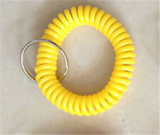Spiral Wrist Coil Key Chains / New in Sealed Bag / Free shipping Dark yellow A13