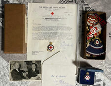 Red Cross Medals Badges Pins To Mrs Dundas