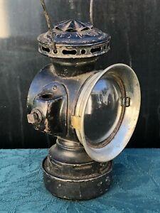 Antique DIETZ EUREKA Lantern Oil Lamp Auto Carriage Light w/Red & Clear Lenses