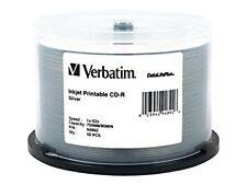Verbatim CD-r 700MB 52 x DatalifePlus Silver Inkjet Printable 50-Pack Spindel