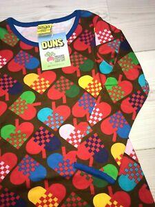 Duns Sweden dress Scandinavian colourful heart size 104 cm
