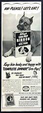 1950 Young Boxer Dog photo Kellogg's Gro-Pup Complete Dog Food vintage print ad