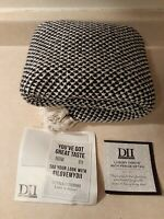 DII Transitional Decorative Woven Throw, 50x60, Black (New Open Package)