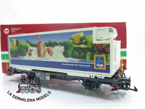 LB409 SPUR G - LGB 46892 RhB Containertragwagen ALDI  - OVP - LIKE NEW