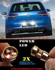COPPIA LUCI TARGA VW GOLF 7 2012+ CON RESISTENZE BIANCO 27 LED SUPER QUALITA -
