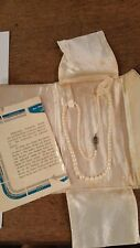 vintage mikimoto Pearl Necklace Cultured
