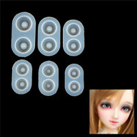 Silicone Mold DIY Doll Eyes 6 Sizes Resin Pendant Mirror Crafts Jewelry Making