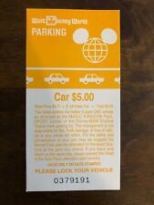 Vintage Disney World 1993 Parking Pass Theme Park Ticket Disney Souvenir