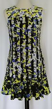 Peter Pilotto for Target Dress Size Small Petite Black Blue Yellow Stripes