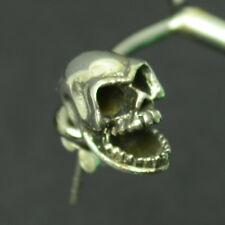 Totenkopf Skull Ohrstecker Ohrring echt 925 Silber 1 Stück Massiv Biker Gothic