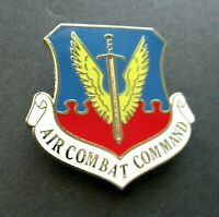 US AIR FORCE USAF COMBAT COMMAND LARGE LOGO LAPEL PIN 1.5 inches
