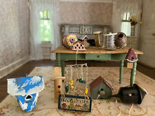 Vintage Miniature Dollhouse Artisan Country Birdhouse Collection All Hand Made