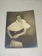 Vintage Photograph Noella Martin 1930's Mink Stole 17550