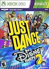 Just Dance Disney Party 2 XBOX 360 KINECT NEW! AUSTIN ALLY, FAMILY GAME NIGHT