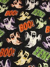 Ghost Boo Eke Cotton Fabric By The Yard