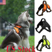 No Pull Adjustable Dog Pet Vest Harness Leash Rope Collar Small/Medium/Large US
