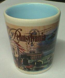 Pennsylvania Shot Glass Shooter Liberty Bell Flag Barware