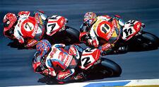 Troy Corser Carl Fogarty Ducati Wsb 916 Carreras de motocicleta Arte Pintura Impresión