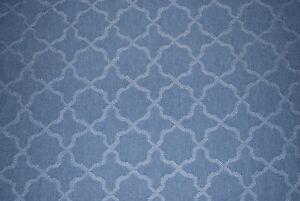 """Twyford"" Villa Nova Jacquard Weave soft furnishing fabric, denim, by the metre"
