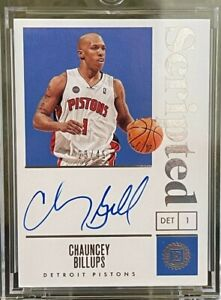 2019-20 Panini Encased Scripted Signatures Chauncey Billups #23 /49
