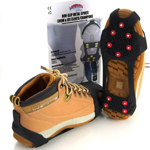 4Cleats Ice Snow Crampon Walk Non-Slip Spikes Boots Grippers Anti Slip Shoe UK