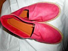 Espadrilles Italian Shoe Creeper Flat Ladies Loafer Pink Leather Moccasin Bertie