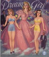 Vintge Uncut 1953 Dream Girls Paper Doll ~Hd Laser Reproduction