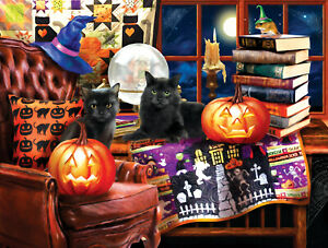 OUR FAVORITE TIME OF YEAR Tom Wood SunsOut 300 LARGE piece HALLOWEEN puzzle NEW