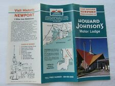 Travel Brochure For Howard Johnson's Motor Lodge Newport, Rhode Island