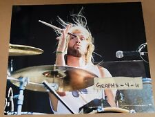Taylor Hawkins Signed Foo Fighters Autograph COA. Proof a
