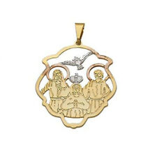 BEAUTIFUL HOLY TRINITY MEDAL IN 18K GOLD OVER STERLING SILVER!!!