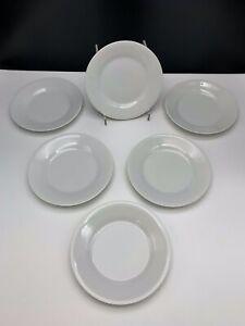 "Lot of 6 - White 10 Strawberry Street 7.5"" Dessert Plates - RW0004 - NIB"