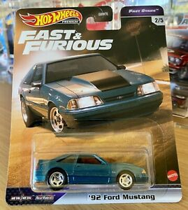 2021 HOT WHEELS PREMIUM FAST & FURIOUS 92' FORD MUSTANG FAST STARS 2/5