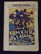 EL NOTICIERO UNIVERSAL 1930 XII VUELTA CICLISTA A CATALUÑA CICLISMO-ROLLS ROYCE
