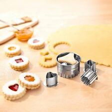 Spitzbuben-Ausstecher 4 Teile Spitzbuben Plätzchen Weihnachtsgebäck Kekse silber
