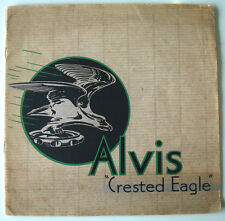 Alvis Crested Eagle Six Cylinder Models Pre-War Car Sales Brochure c1935