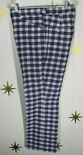 Vintage Men's Vecci Plaid Golf Pants Slacks Usa Made Sz 34x30