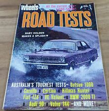 1968.WHEELS Australian ROAD TESTS.No.14.TORANA.BMW 2000.144.VE.Fiat 124.Cortina