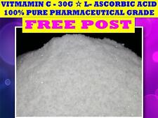 VITAMIN C POWDER ☆ 30G ☆L-Ascorbic Acid☆100% PURE ☆HIGHEST QUALITY GUARANTEED ☆