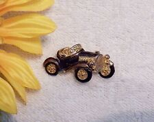 Wheels Wind S Gold Tone Vl-B4 Classic Brooch Pin Car Roadster Convertible Racing
