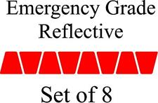 RED HELMET TETS TETRAHEDRONS HELMET STICKER  EMT EMERGENCY GRADE REFLECTIVE