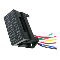 6 Way Blade Fuse Box Block Holder Circuit Protection for Car Boat Automotive