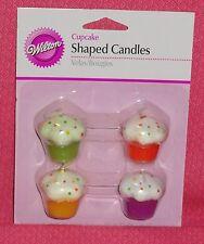 Cupcake Candles,Birthday Cake,Multi-color,Baking, Wilton,4 ct.Wax,2811-1004