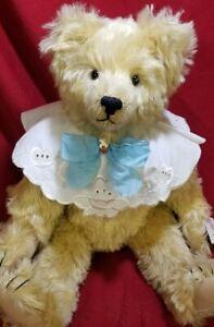 "Sue Foskey ""Sara Kaye"" Musical artist teddy bear 18"" mohair music box Nostalgic"