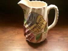 Blue Ridge Pansy Trio Hand Painted Spiral Pitcher - Made in Tennessee