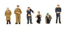 Scenecraft 379-316 Factory Workers & Foreman (Pk6) Figures N Gauge