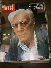 Paris Match N° 753 14 septembre 1963 Mort Braque Ku Klux klan Philippe Halsman