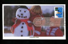 US FDC #2793 Mystic Cachet Christmas snowman Frosty 1993 New York NY