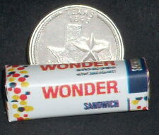Dollhouse Miniature Wonder Bread Loaf 1:12 Sandwiches Lunches Texas Smoked Meats