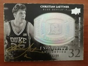 Christian Laettner Upper Deck Exquisite Collection 2011-12 14/99